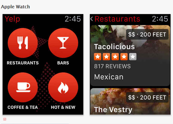 Travel apps for iPhone Yelp