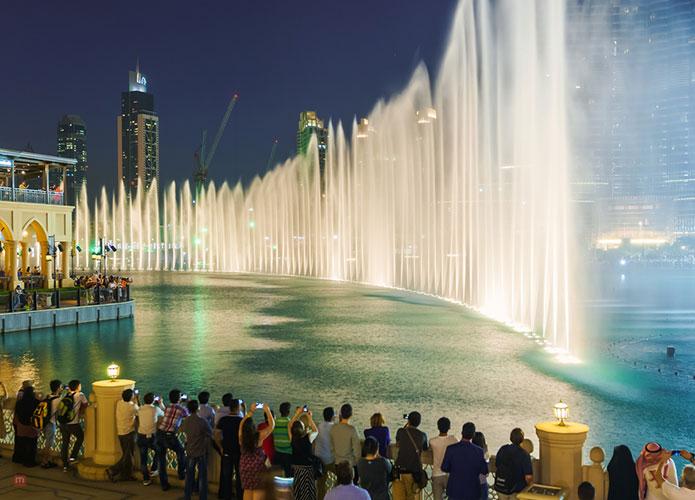 the fountain display