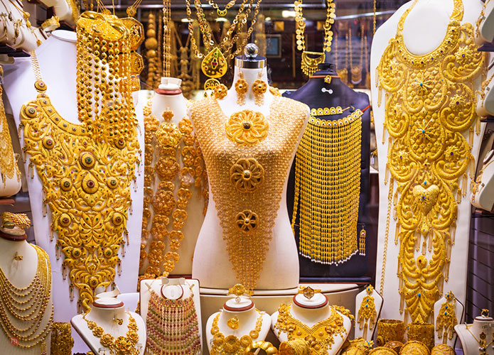 a trip to the gold souk